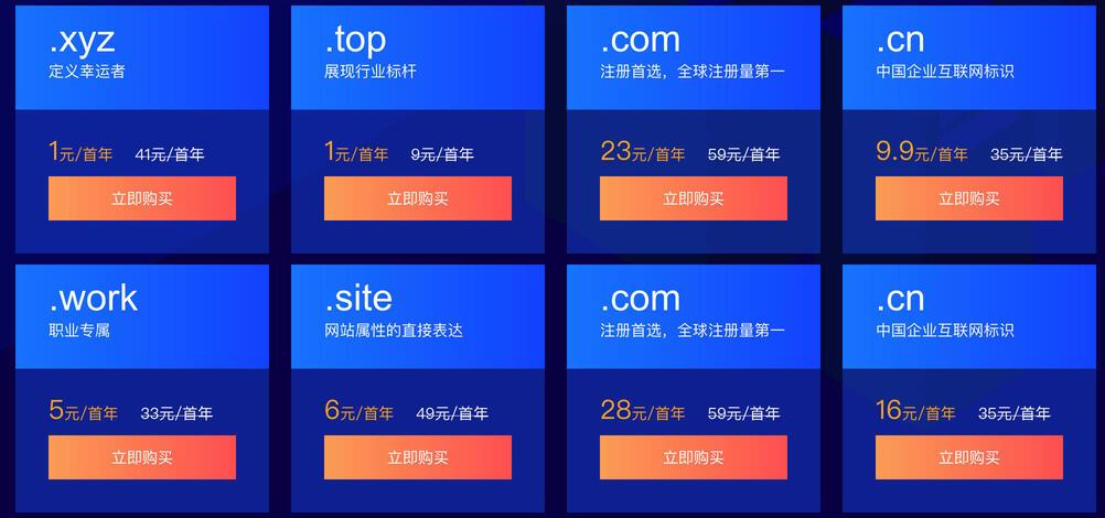 腾讯云的域名优惠活动