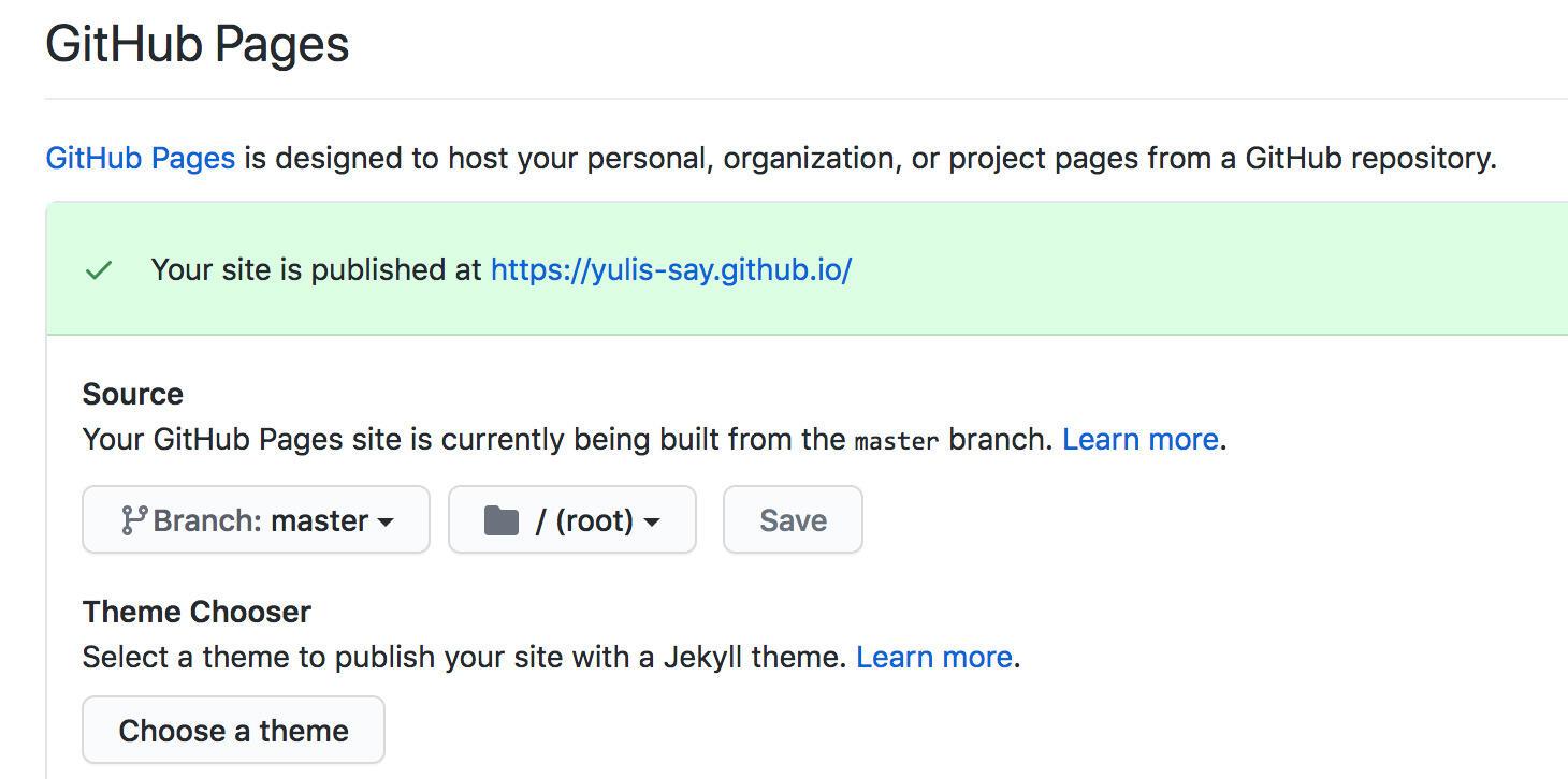 图:GitHub Pages 配置
